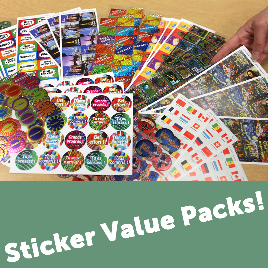 French Sticker Packs