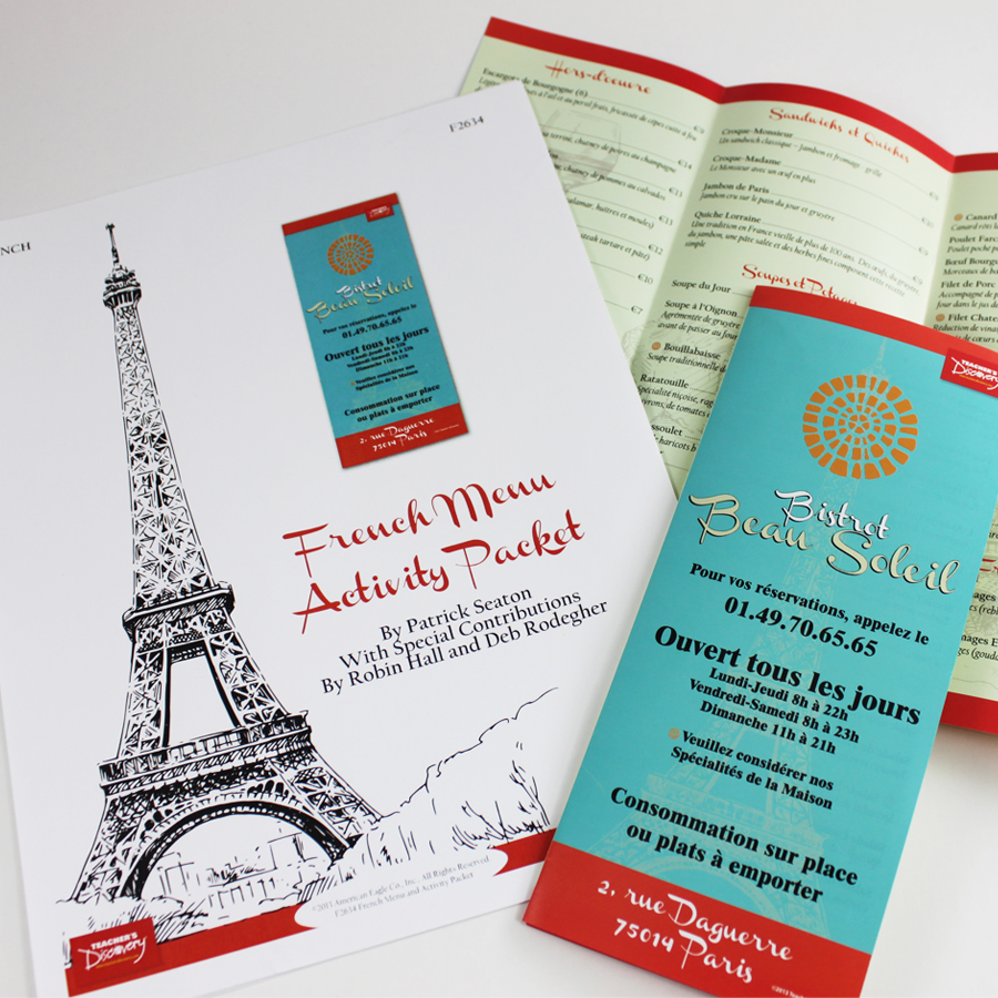 French Menu and Activity Packet