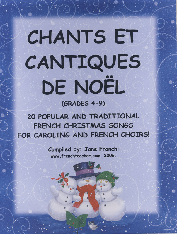 Chants et Cantiques de Noel Activities Packet