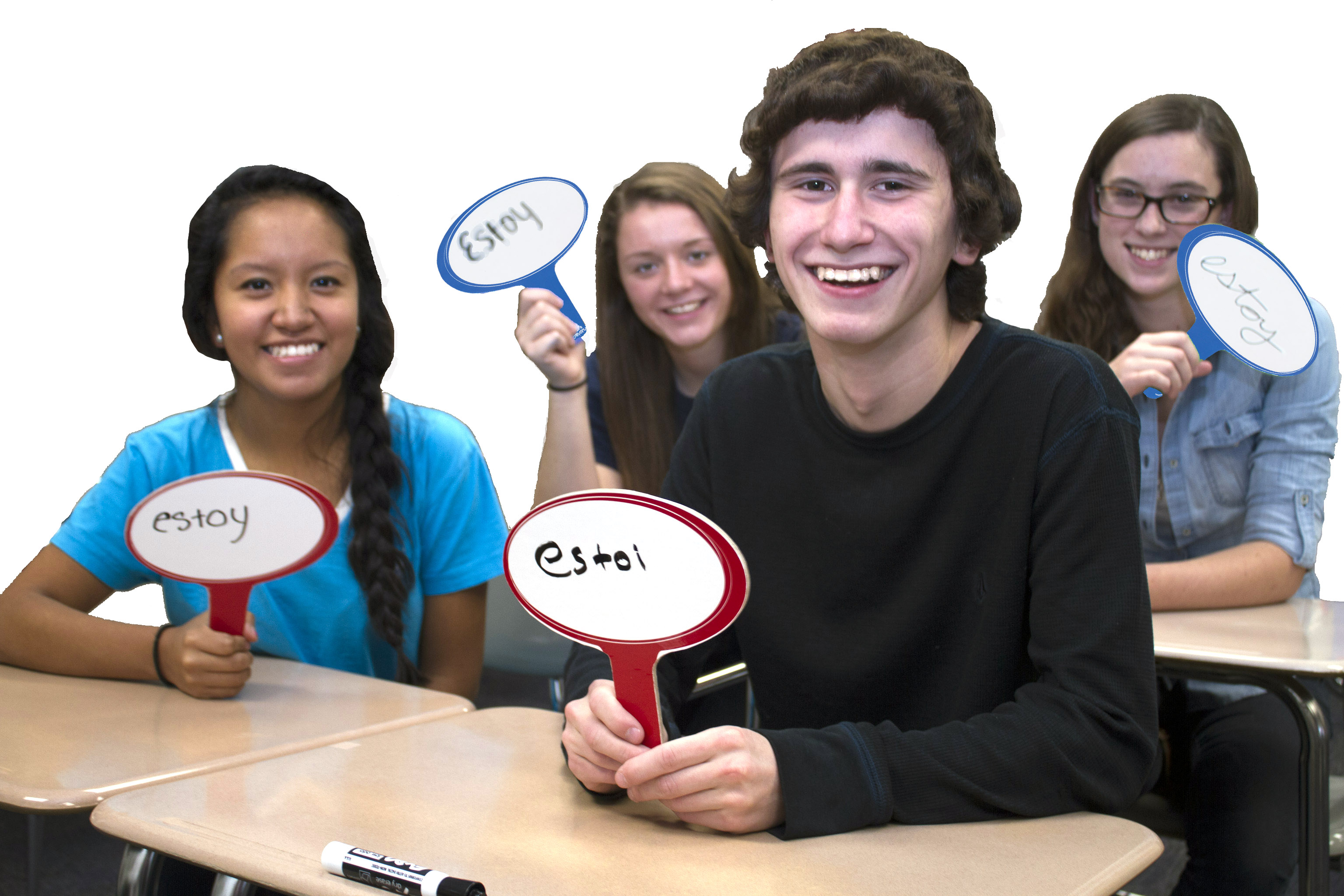 Ask 'em!™ Double-Sided Dry-Erase Boards