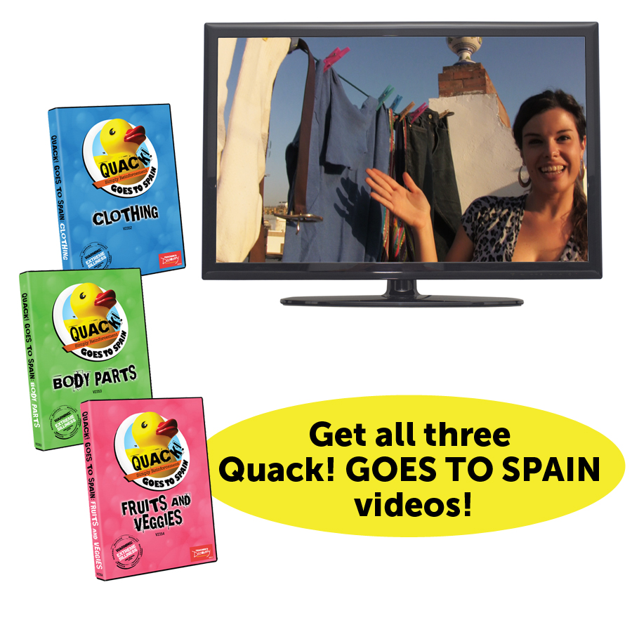 QUACK! Goes To Spain Set of 3