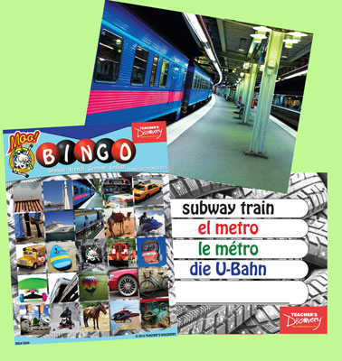 Transportation Bingo & Flashcards (2010)