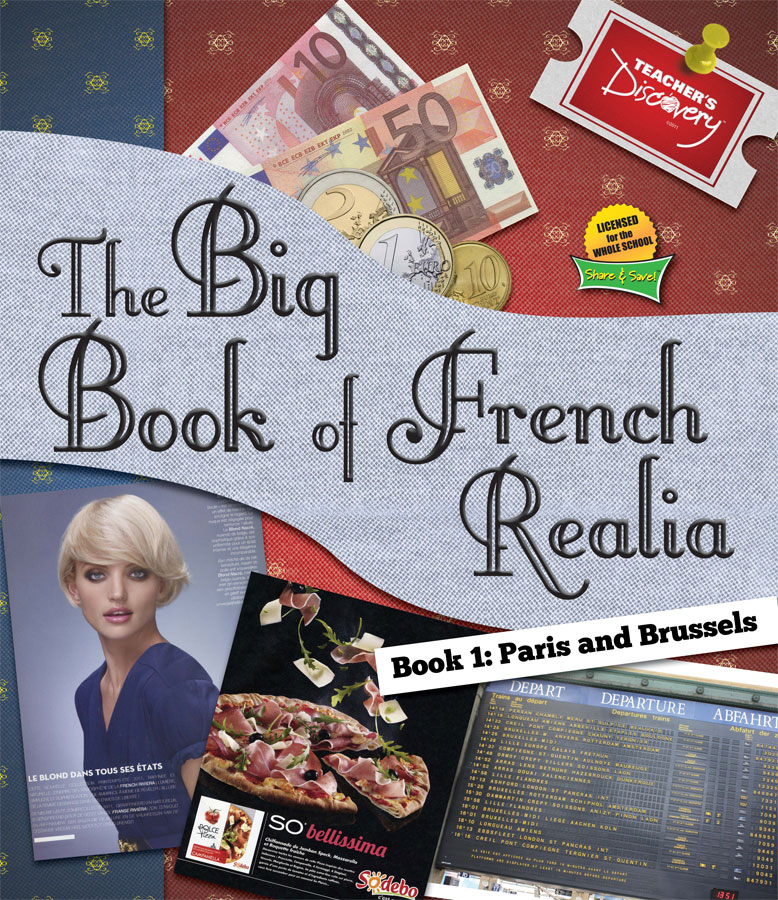 Big Book of French Realia: Paris and Brussels Book