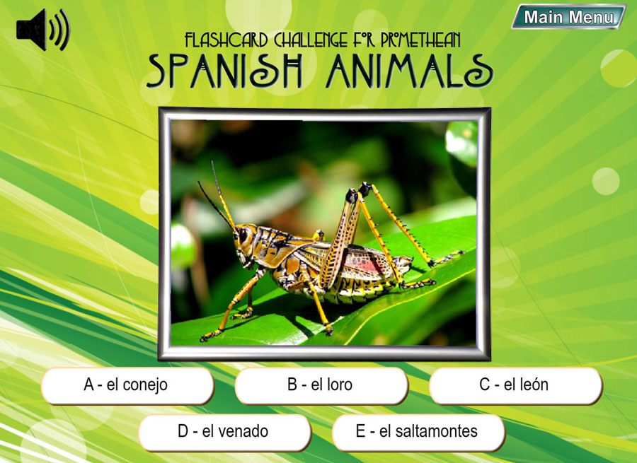 Spanish Digital Flashcard Challenge Promethean Set of 10 Downloads