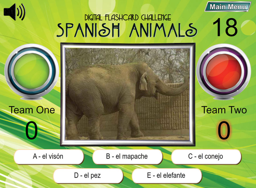 Digital Flashcard Challenge Games Spanish Set of 10 Downloads