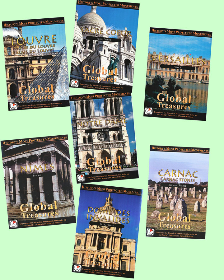 Global Treasures France Set of 7 Video Downloads