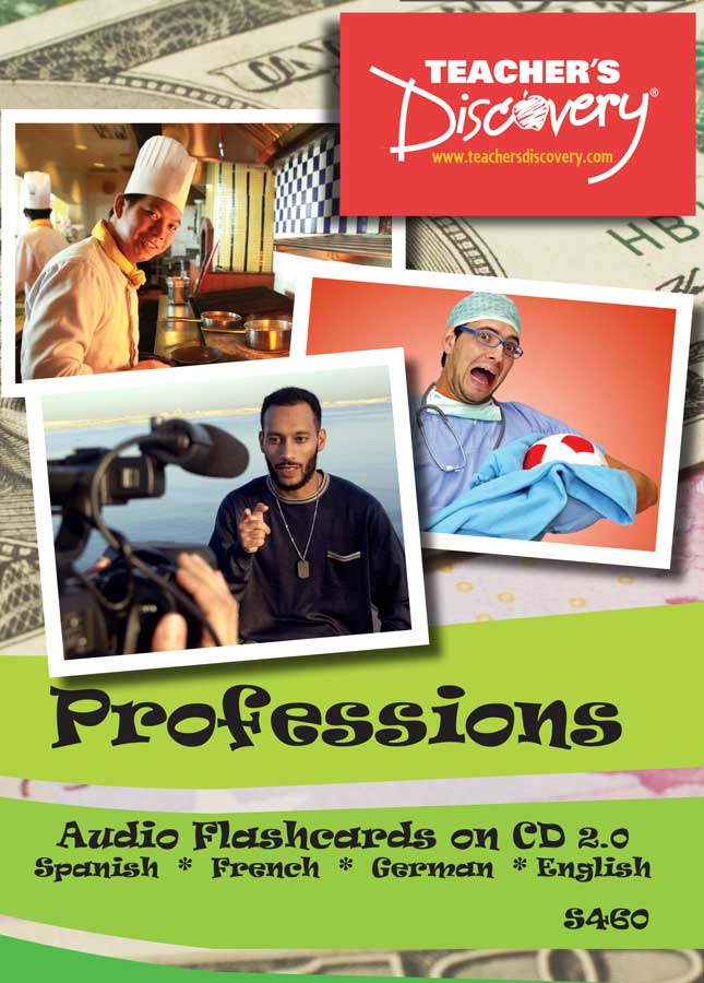 Audio Flash Cards Spanish/French/German/English Professions (2010)