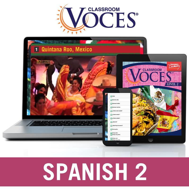 Voces® Spanish 2 Digital Courseware Subscription