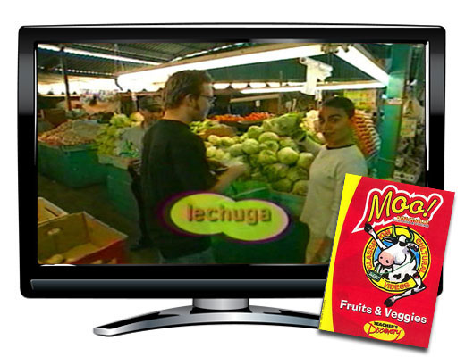 Fruits and Veggies Vocabulary Spanish DVD Download