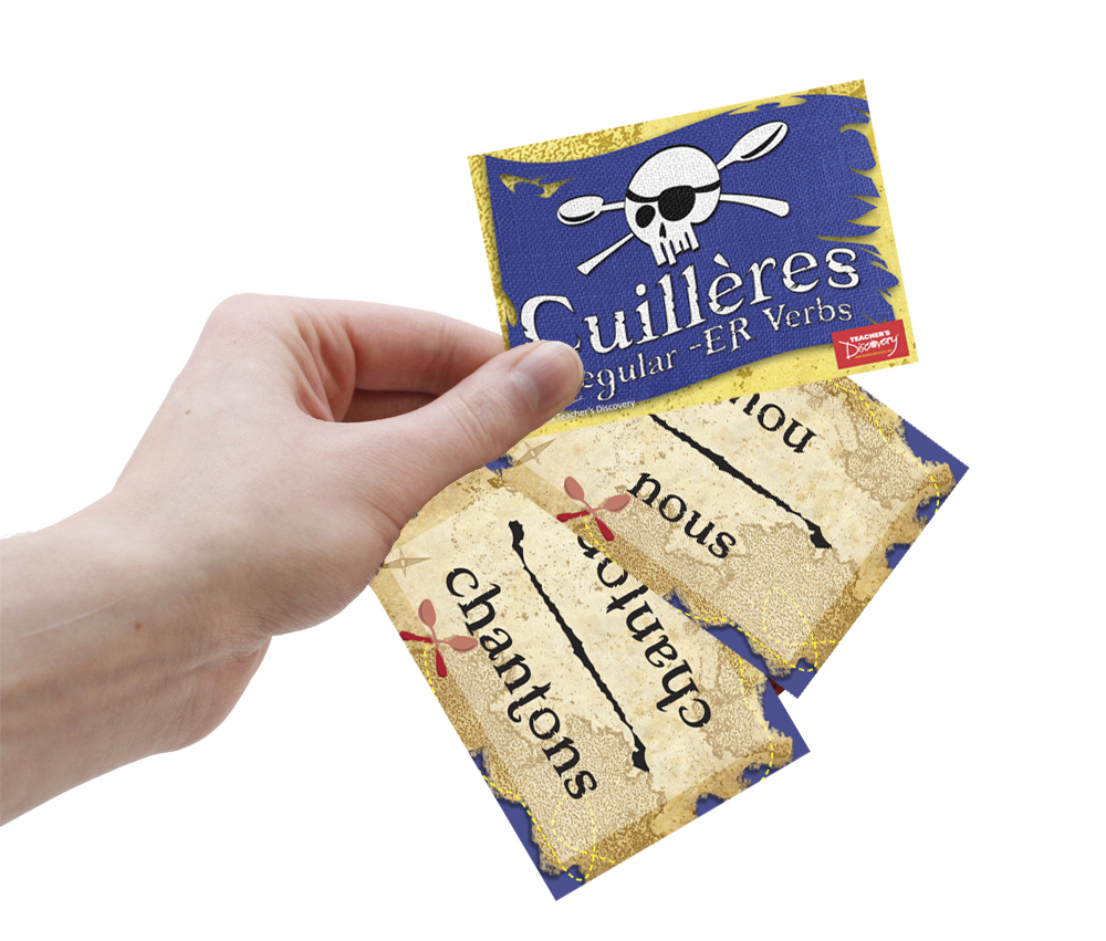 Cuilleres Verb Review Pack - 1 Set of Each French Verbs Card Game