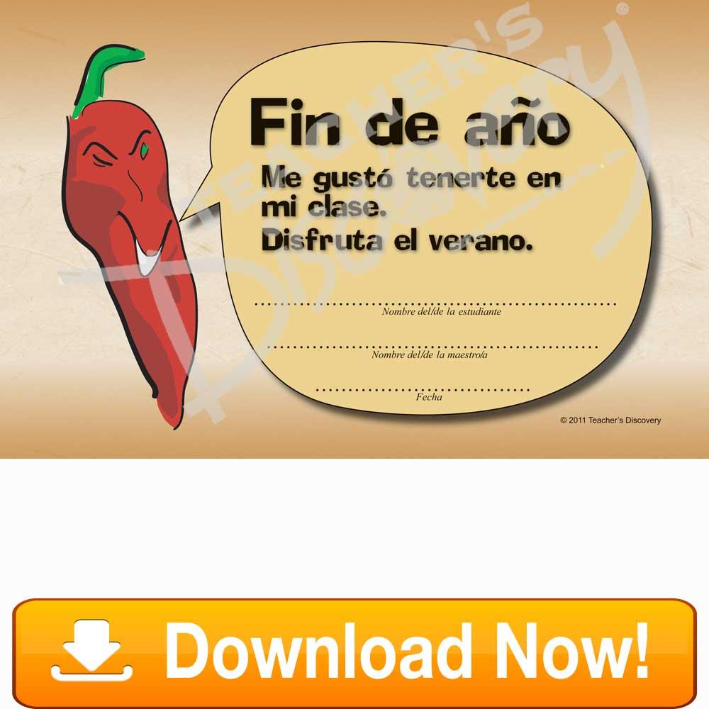 Downloadable Chico Chile Fin De Ao Spanish Certificate Download
