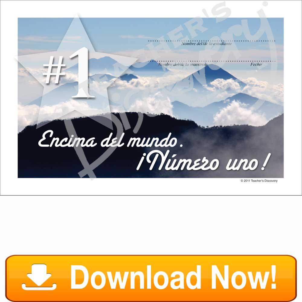 Volcano of Guatemala ¡Número Uno! Certificate Download