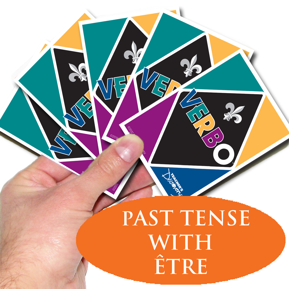 Verbo™ French Card Game Past Tense Verbs with Etre