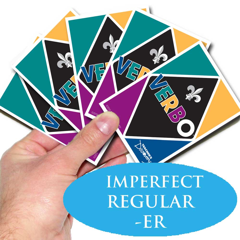 Verbo™ French Card Game -ER Imperfect Tense Regular Verbs