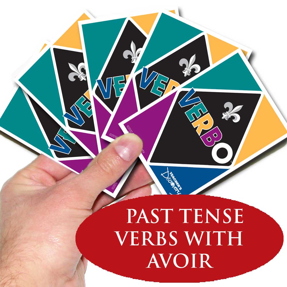 Verbo™ French Card Game Past Tense Verbs with Avoir