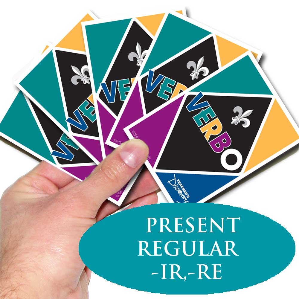 Verbo™ French Card Game –re, –ir Present Tense Verbs