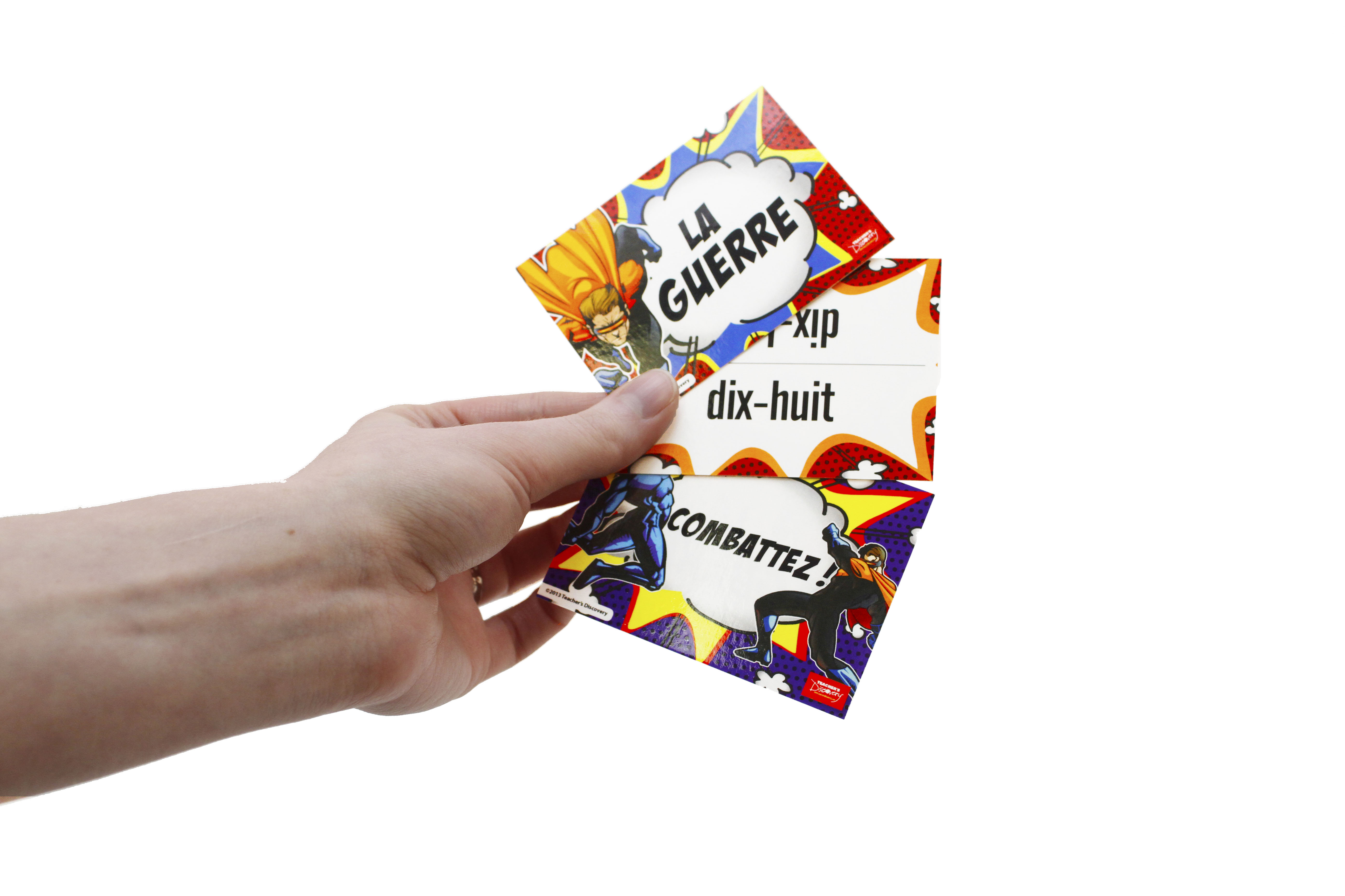 La guerre French Numbers Card Game