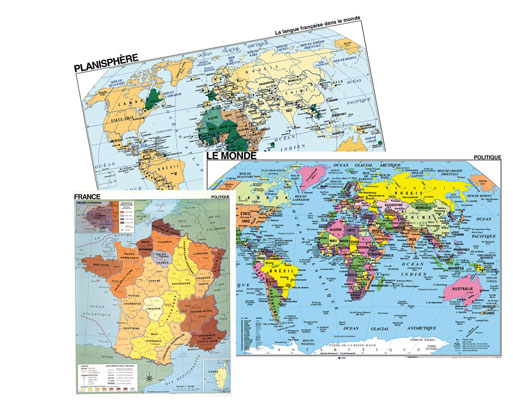 French Classroom Maps Set