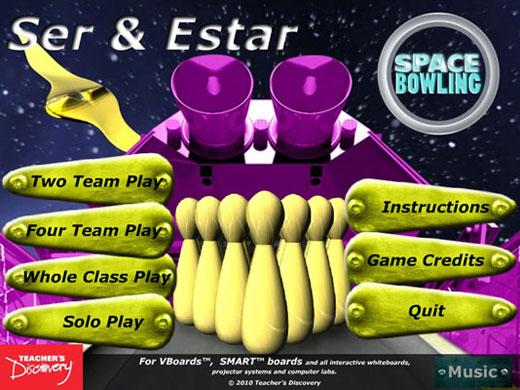 Ser & Estar Space Bowling Game Download