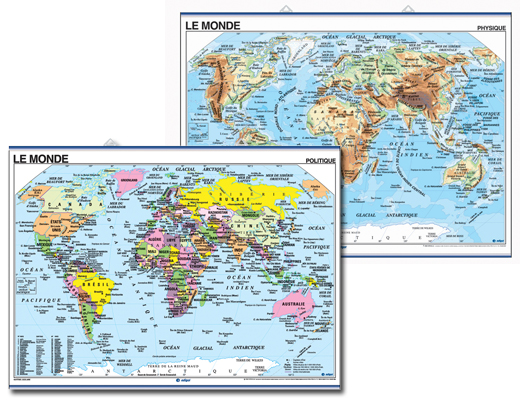 World Map in French