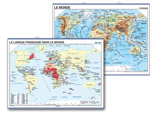 World Map of French Speaking Countries