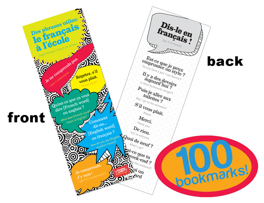 Useful Phrases French Bookmarks (100)