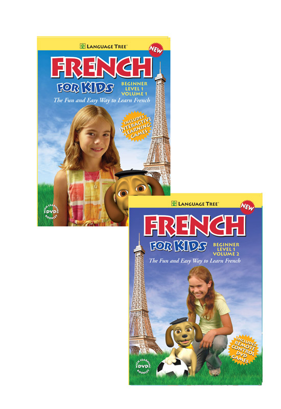 French For Kids DVD Set Beginning Level 1 Volume 1 & 2