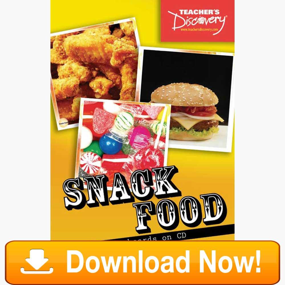 Snack Food Flash Cards Download