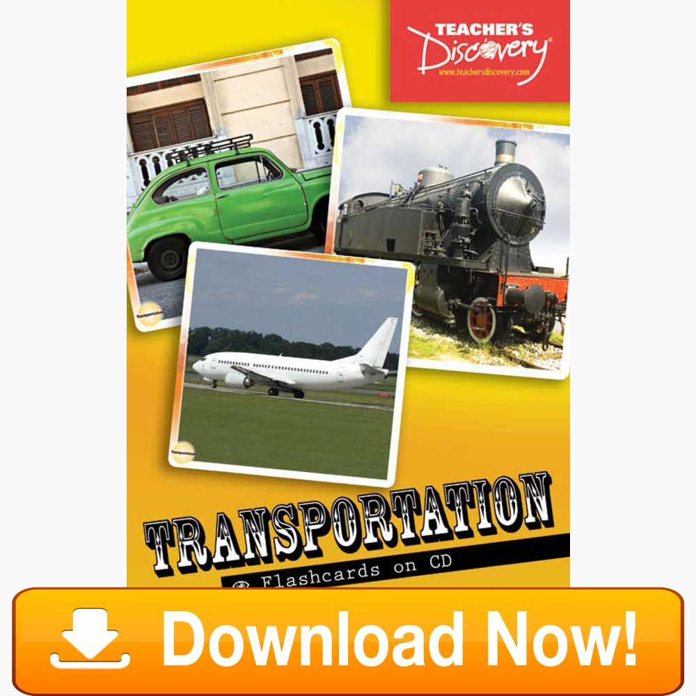 Transportation Flash Cards Download