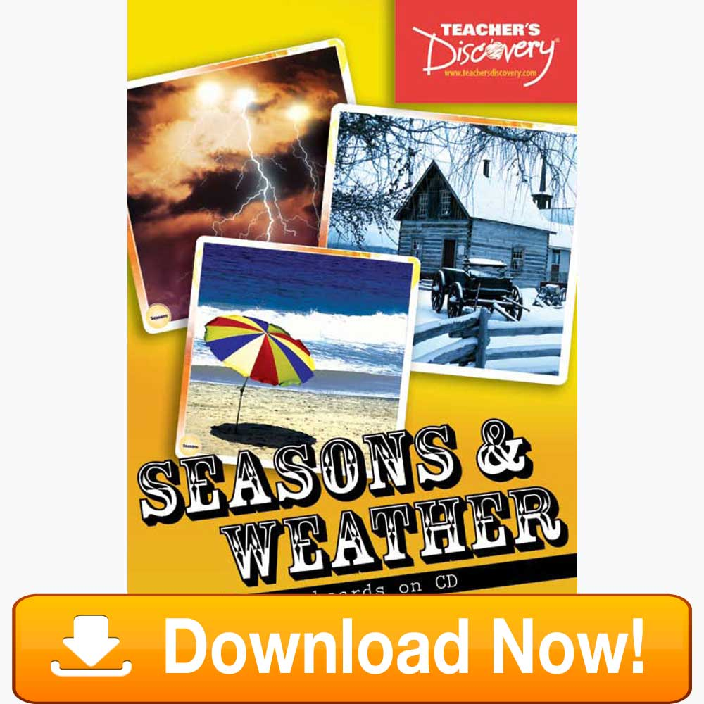 Seasons and Weather Flash Cards Download