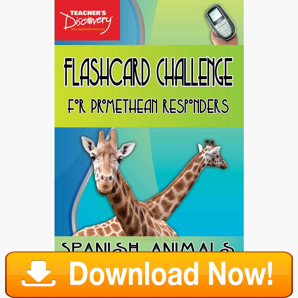 Spanish Digital Flashcard Challenge Promethean Animals Download
