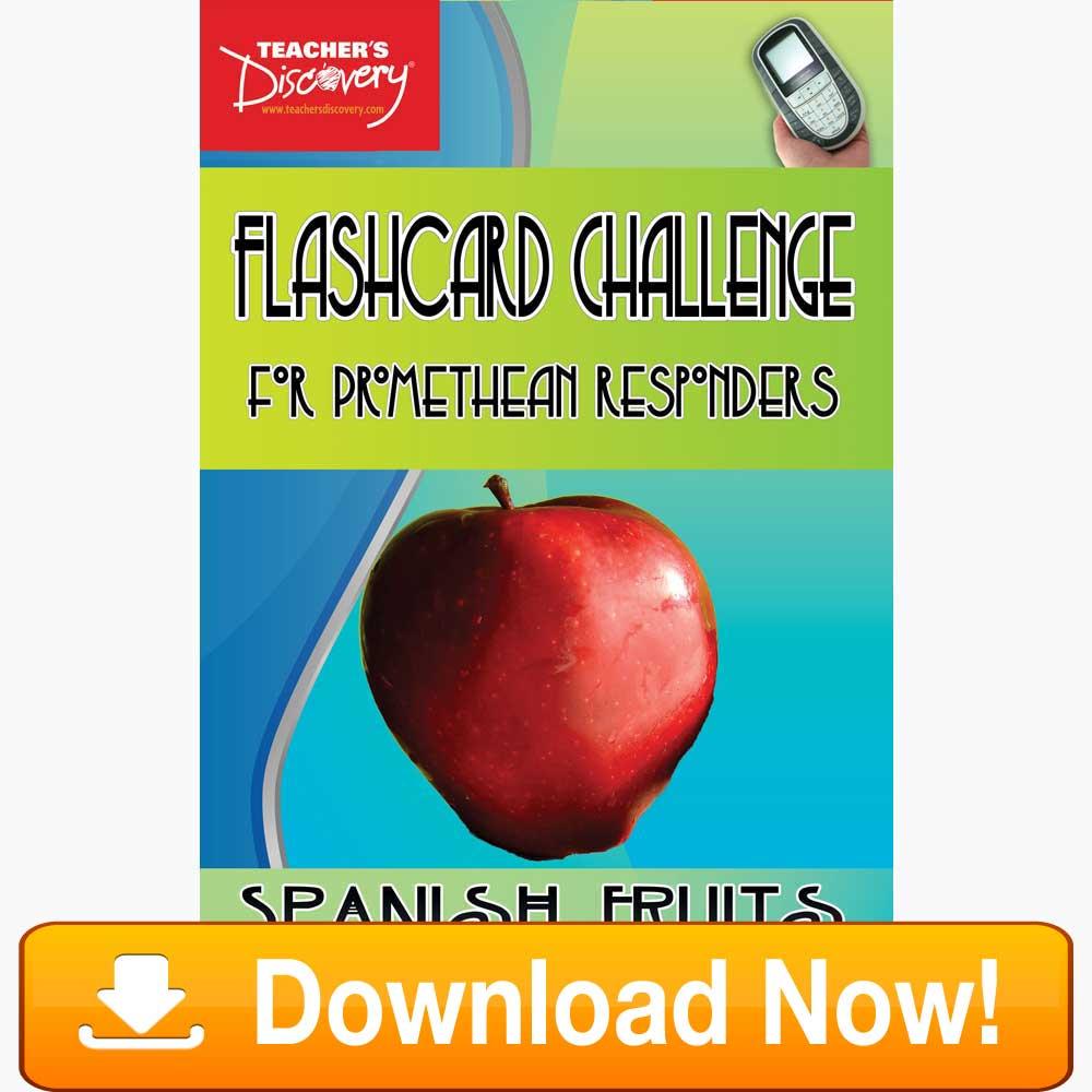 Spanish Digital Flashcard Challenge Promethean Fruits Download