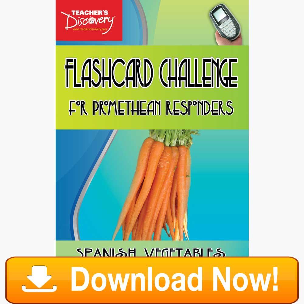 Spanish Digital Flashcard Challenge Promethean Vegetables Download