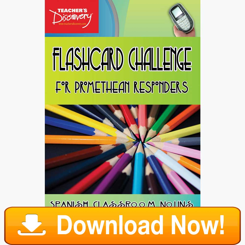 Spanish Digital Flashcard Challenge Promethean Classroom Download