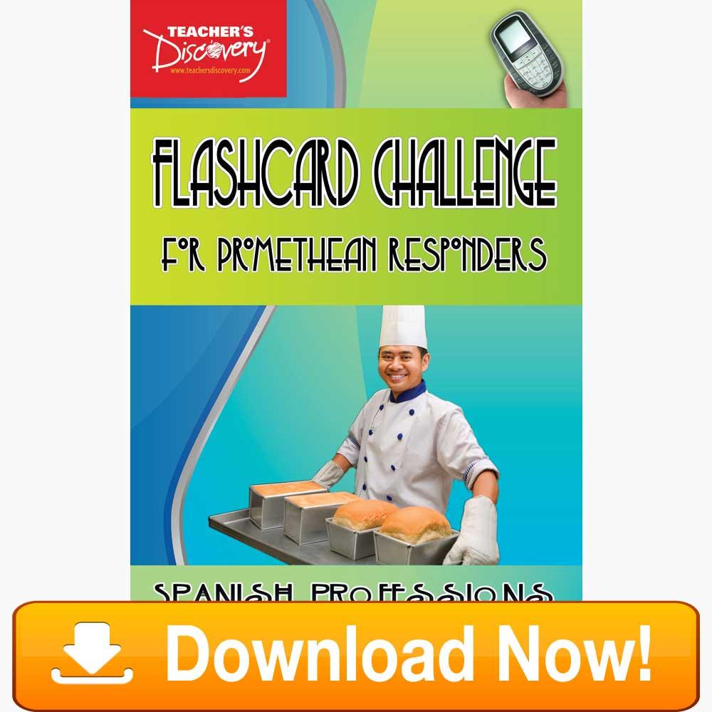 Spanish Digital Flashcard Challenge Promethean Professions Download