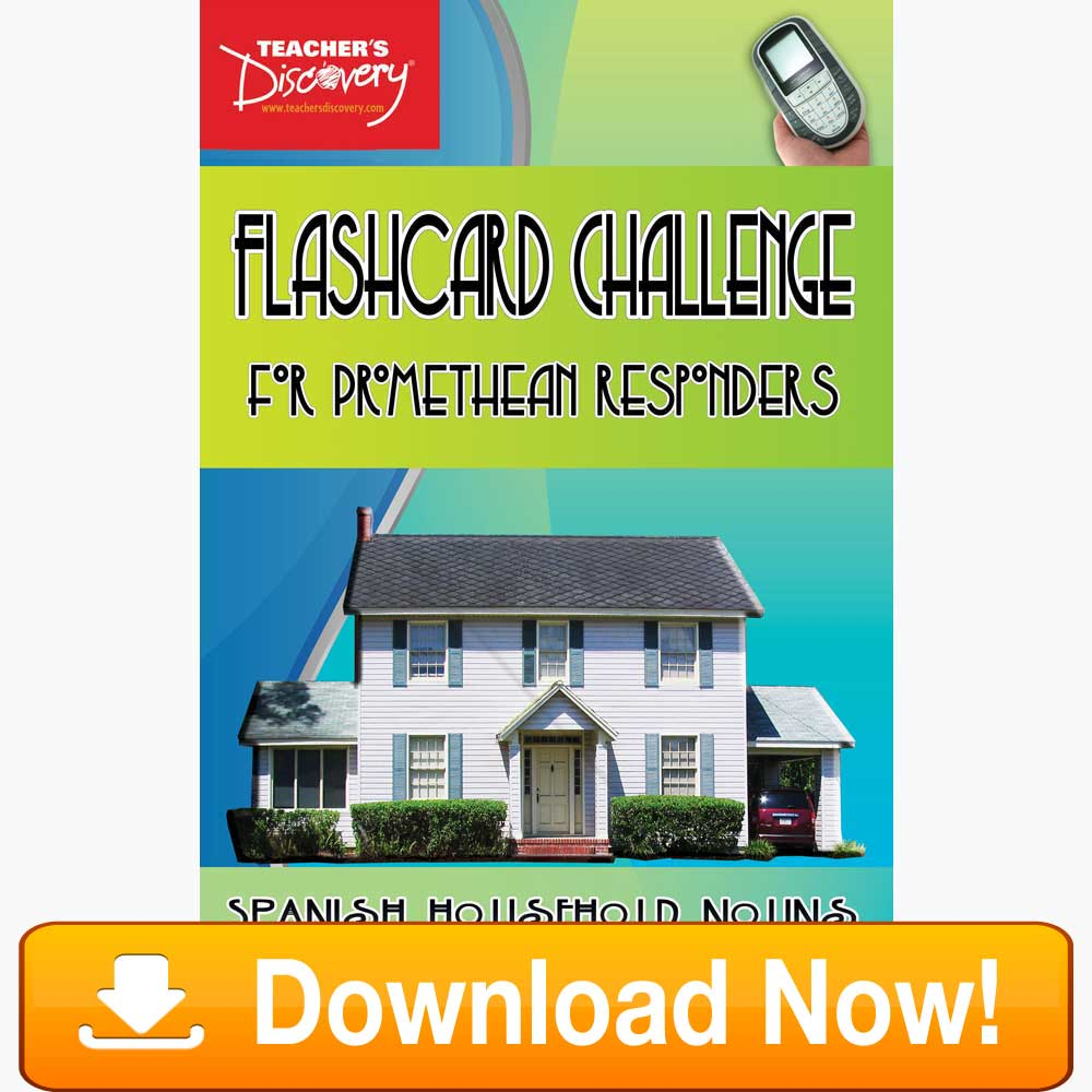 Spanish Digital Flashcard Challenge Promethean Household Download