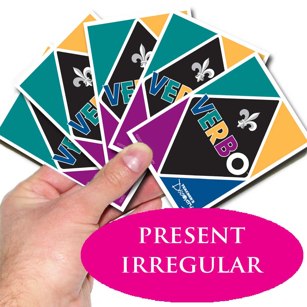 Verbo™ French Card Game Present Tense Irregular Verbs