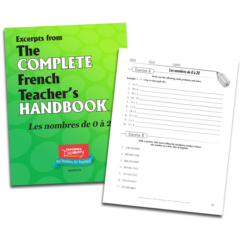 Les nombres de  0 à 20 - French - Book Excerpt Download