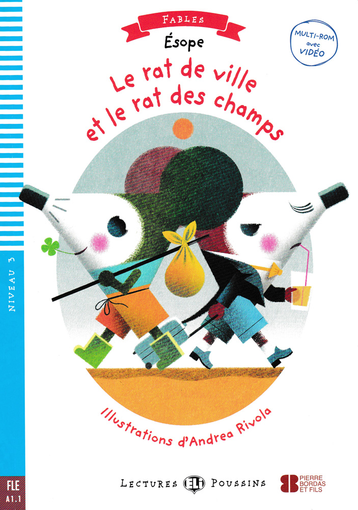 Le rat de ville et le rat des champs French Level 2 Reader