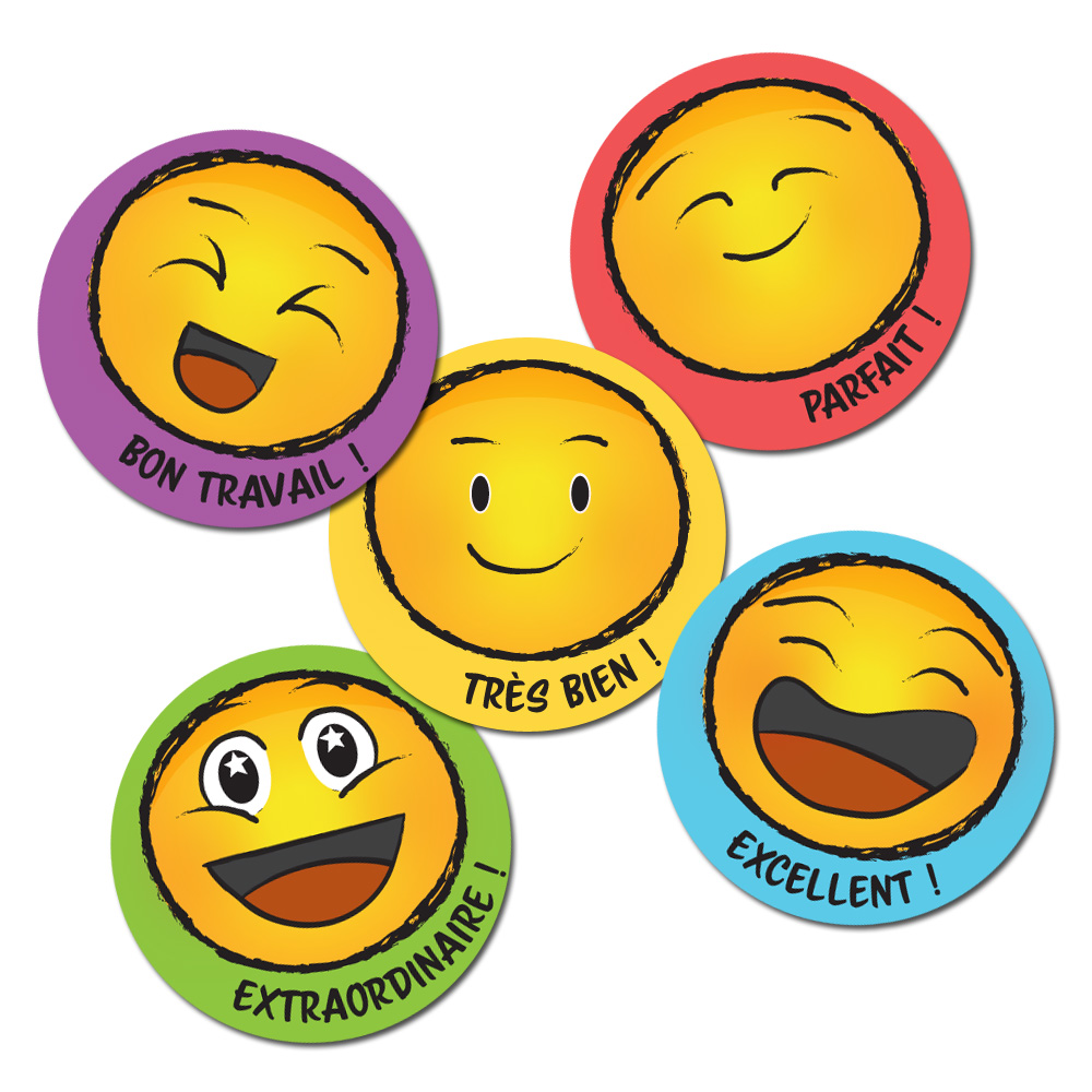 Smile French Stickers