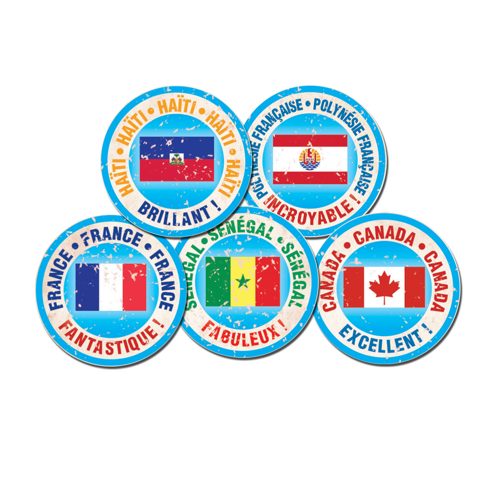 Passport Stamp French Stickers
