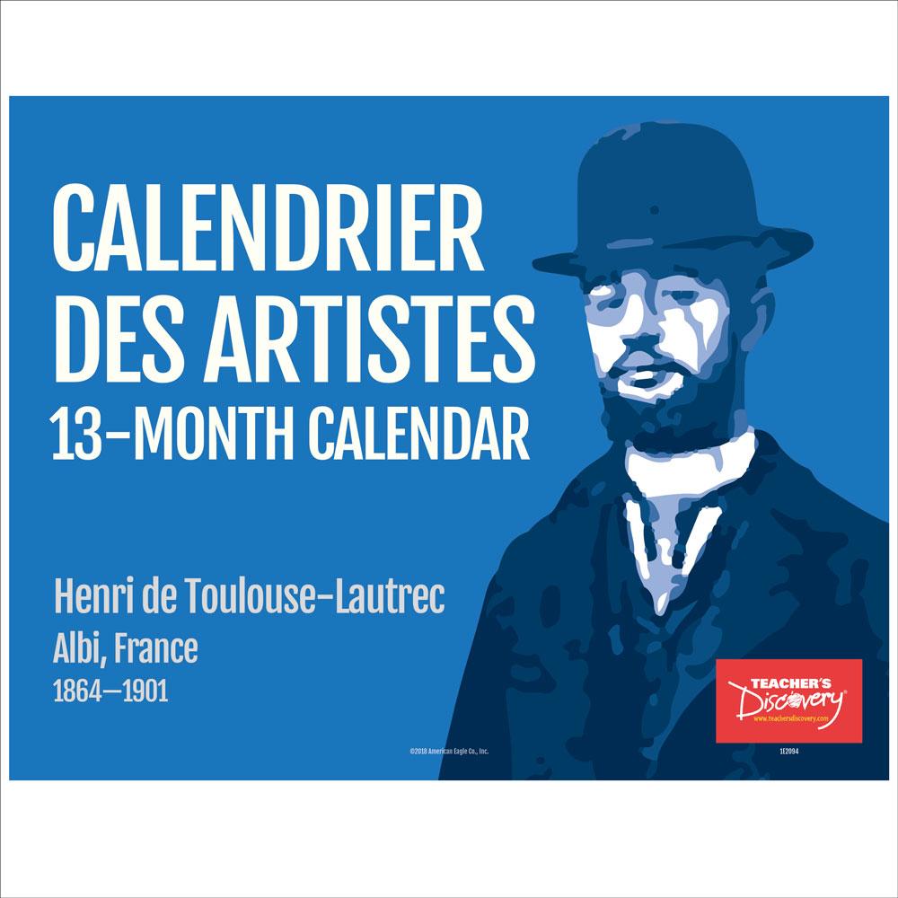 Calendrier des artistes 13-Month Calendar