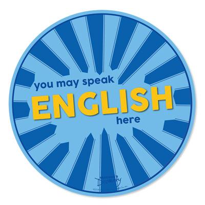 Speak English Here Floor Sticker