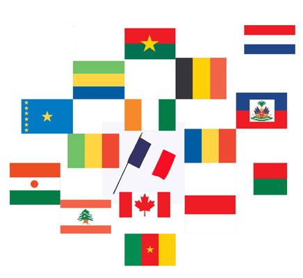 Classroom-Sized Flags from French-Speaking Countries