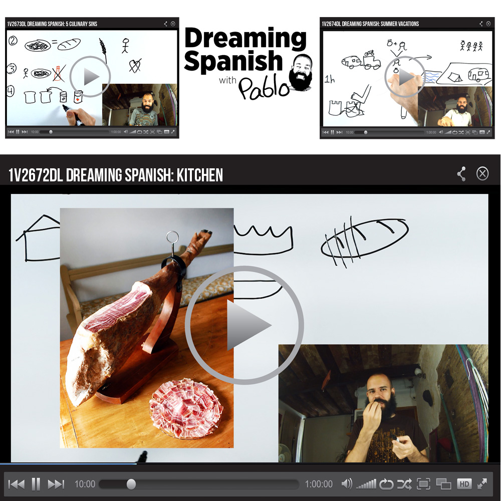 Dreaming Spanish Set of 3 Video Downloads