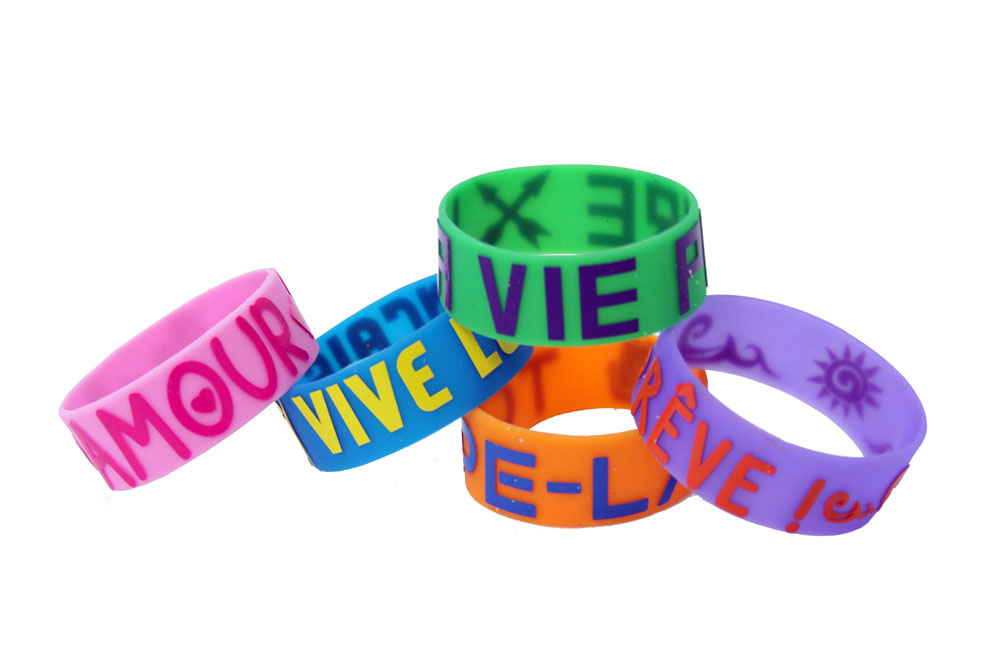 Glow-in-the-Dark-French Wristbands Set of 40