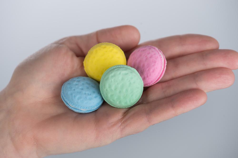 Macaron Erasers Set of 36