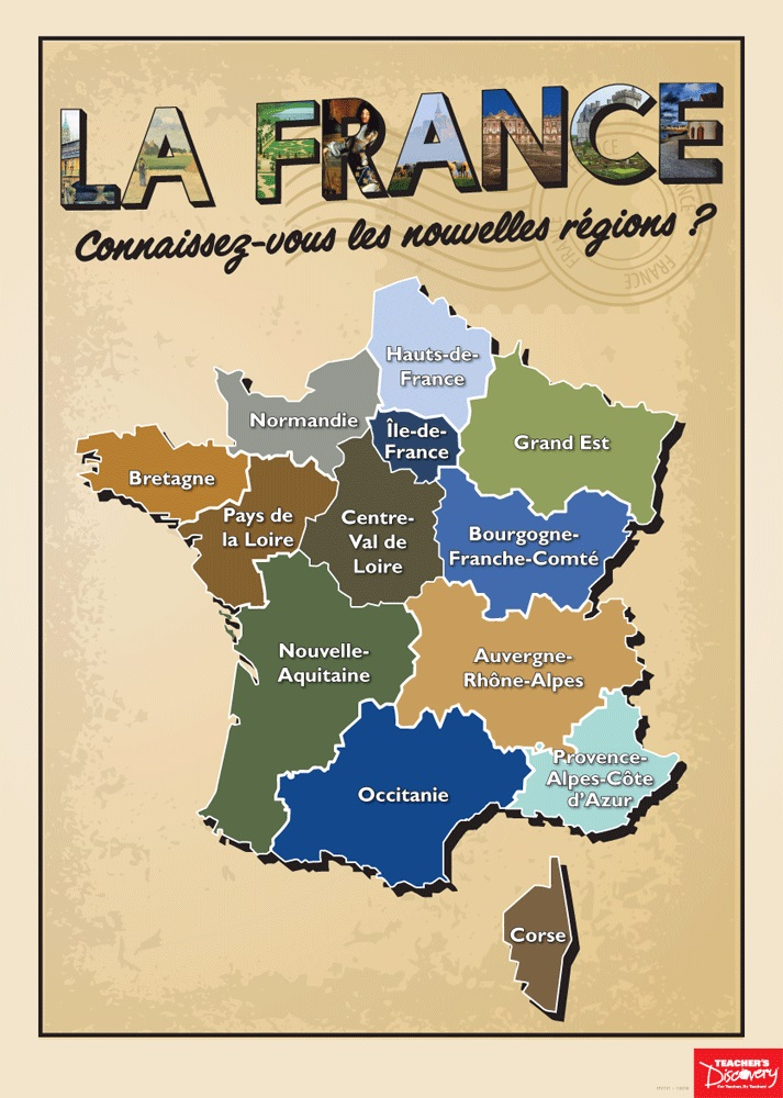French Regions Poster French Teachers Discovery