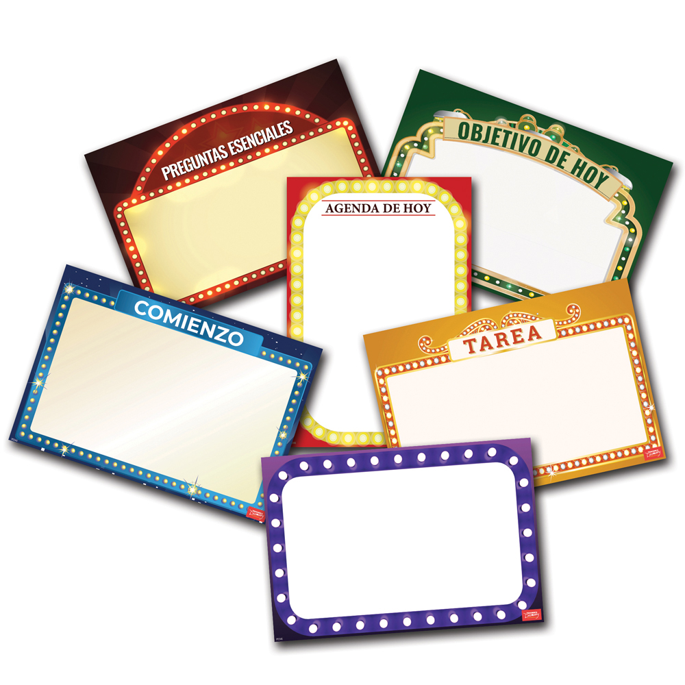 Classroom Essential French Dry-Erase Posters - Set of 6