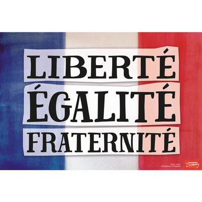 Liberty, Equality, Fraternity French Mini-Poster